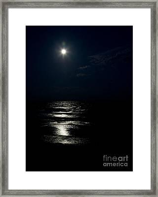 Hunter's Moon II Framed Print by Michelle Wiarda