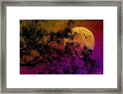 Hunter's Moon Framed Print by Karen Slagle