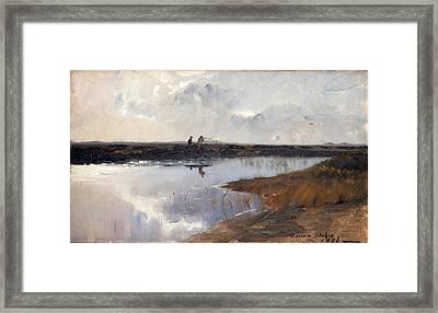 Hunters On The Moor North Of Skagen Framed Print by Adrian Scott Stokes