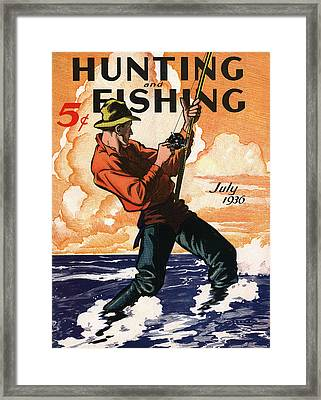 Hunting And Fishing Framed Print by Gary Grayson