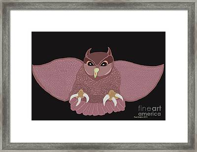 Hunting Owl Framed Print by Fred Jinkins