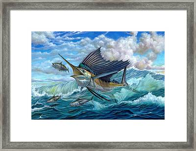 Hunting Sail Framed Print by Terry Fox