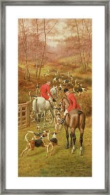 Hunting Scene, 1906 Framed Print by Edward Algernon Stuart Douglas