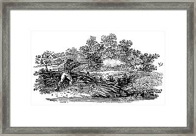 Hunting Scene, C1800 Framed Print by Granger