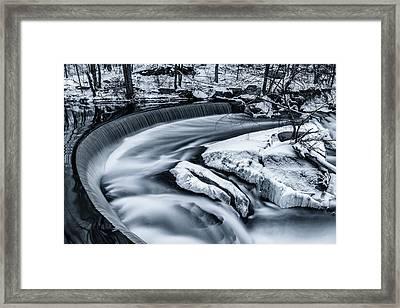 Hunts Mill Falls Framed Print by Bryan Bzdula