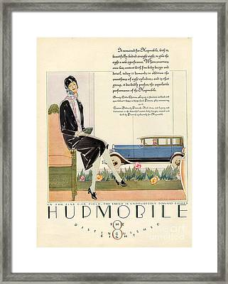 Hupmobile 1929 1920s Usa Cc Cars Womens Framed Print by The Advertising Archives