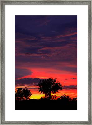 Huricane Sunset Framed Print by Zachary Cox