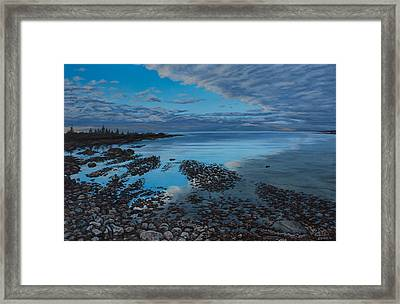 Huron Horizon Framed Print by Michael Marcotte