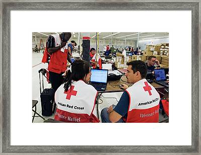 Hurricane Katrina Coordination Centre Framed Print by Jim West
