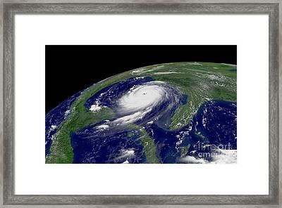 Hurricane Katrina Framed Print by Jon Neidert