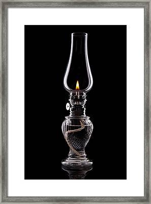 Hurricane Lamp Still Life Framed Print by Tom Mc Nemar