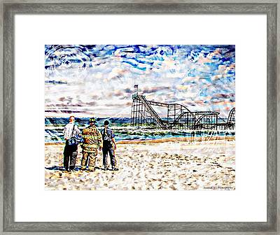 Hurricane Sandy First Responders Framed Print by Jessica Cirz