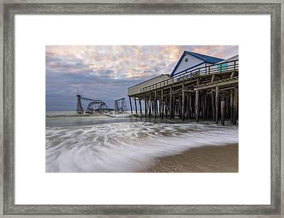 Hurricane Sandy Framed Print by Mike Orso