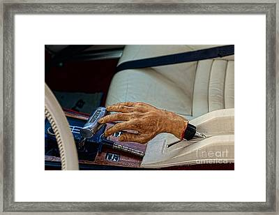 Hurst Shifter And Hand Brake Framed Print by Paul Ward