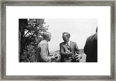 Huskins And Schrader Framed Print by American Philosophical Society