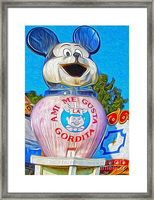 Husky Boy Mouse-cot Framed Print by Gregory Dyer