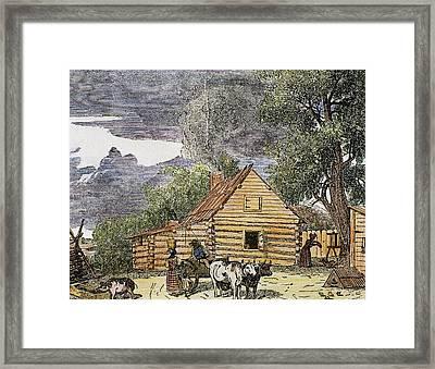 Hut Virginia, 1848 United States Framed Print by Prisma Archivo