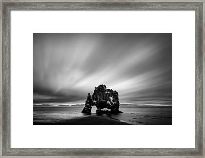 Hvitserkur Framed Print by Dave Bowman