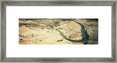 Hwy 12 Near Escalante Ut Usa Framed Print by Panoramic Images