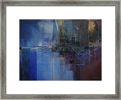 Hyacintho Philosophicus - Azul Filosofico - Blue Philosophical Framed Print by Hermes Delicio