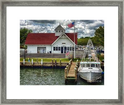 Hyannis Coastguard Hdr01 Framed Print by Jack Torcello