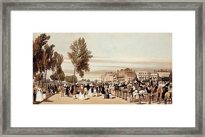 Hyde Park, Towards The Grosvenor Gate Framed Print by Thomas Shotter Boys