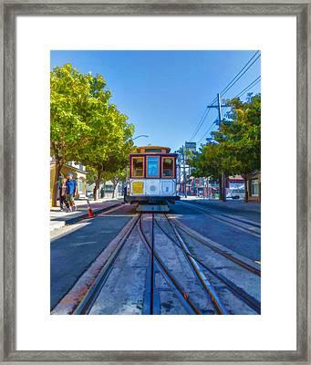 Hyde Street Trolley Framed Print by Scott Campbell
