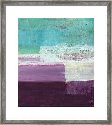 Hydrangea- Abstract Painting Framed Print by Linda Woods