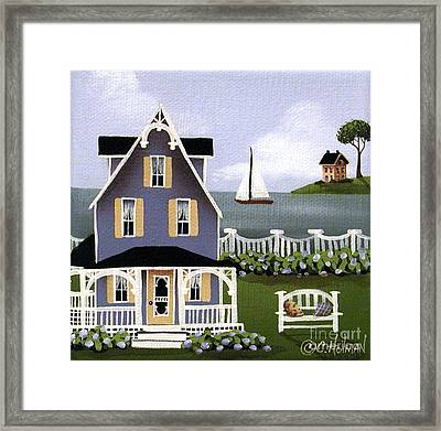 Hydrangea Cove Framed Print by Catherine Holman