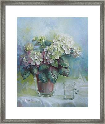 Hydrangea Framed Print by Elena Oleniuc