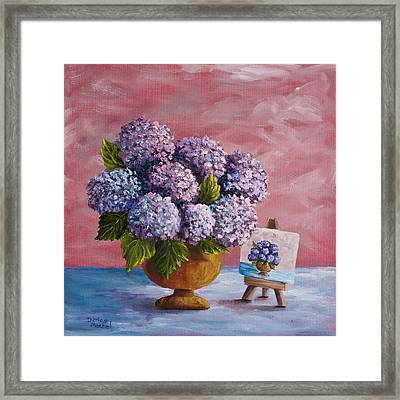 Hydrangeas From My Garden Framed Print by Darice Machel McGuire