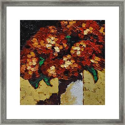 Hydrangeas II Framed Print by Vickie Warner
