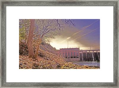 Hydro Electric Dam  N Framed Print by Kristine Nora