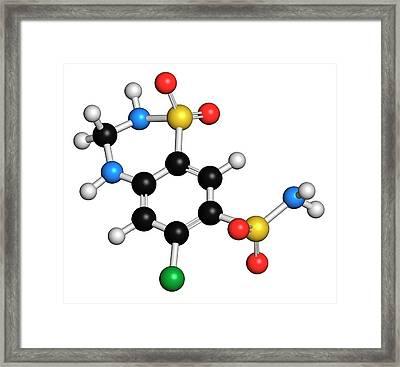 Hydrochlorothiazide Diuretic Drug Framed Print by Molekuul