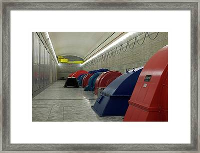 Hydroelectric Power Turbine Hall Framed Print by Ibm Research