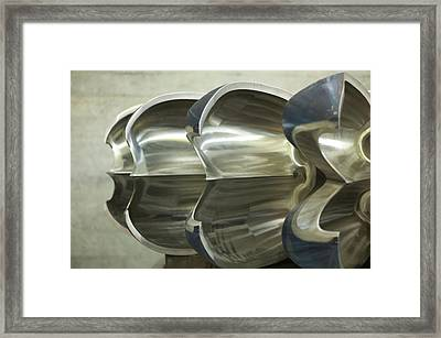 Hydroelectric Power Turbine Framed Print by Ibm Research