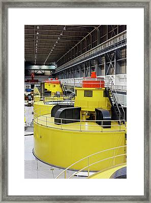 Hydroelectric Turbines Framed Print by Jim West
