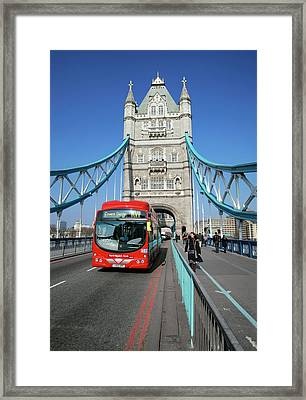 Hydrogen Fuel Cell Bus Framed Print by Martin Bond