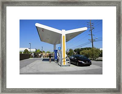 Hydrogen Fuelling Station Framed Print by Michael Penev/us Department Of Energy
