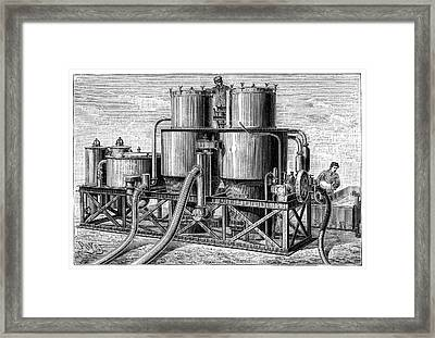 Hydrogen Gas Production Apparatus Framed Print by Science Photo Library