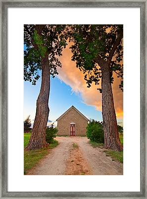 Hygiene Colorado Church Of The Brethren 1880 Sunset Framed Print by James BO  Insogna