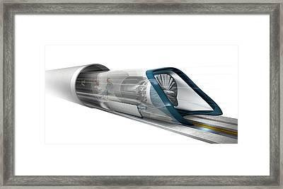 Hyperloop Transport Framed Print by Claus Lunau