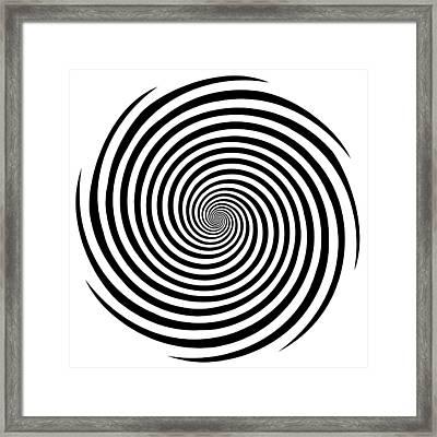 Hypnosis Spiral Framed Print by J M Designs