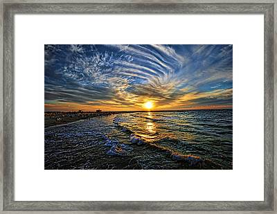 Hypnotic Sunset At Israel Framed Print by Ron Shoshani