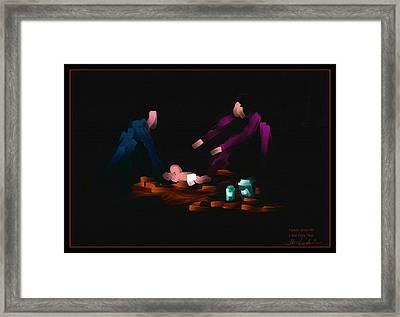I Aint Doin That - Family Series - # 1 Framed Print by Steven Lebron Langston