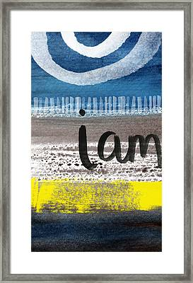 I Am- Abstract Painting Framed Print by Linda Woods
