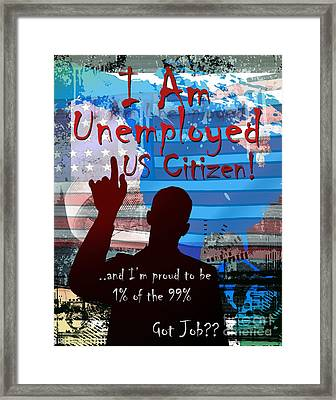 I Am Framed Print by Bedros Awak