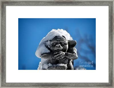 I Am Cold Framed Print by Alexandra Jordankova