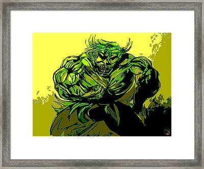 I Am Hulk  Framed Print by Jazzboy