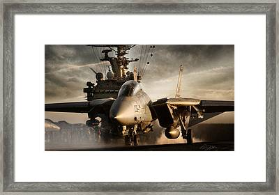 I Am Legend F-14 Framed Print by Peter Chilelli
